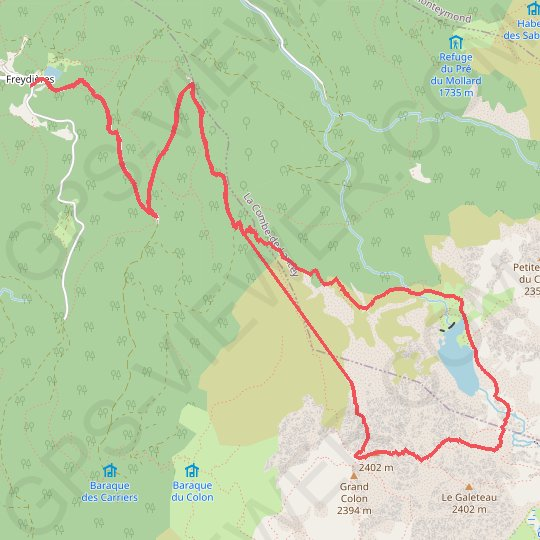 Trace GPS Grand Colon, face N en boucle (Belledonne)