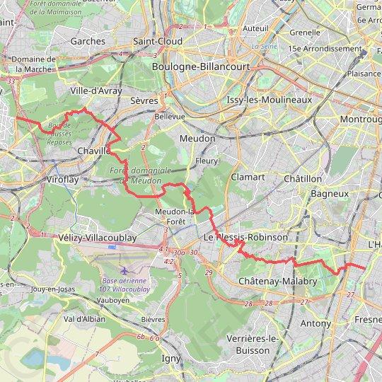 pourtant pas vulgaire Couleurs variées prix raisonnable Trace GPS GRP ceinture verte de l'Île de France, itinéraire ...