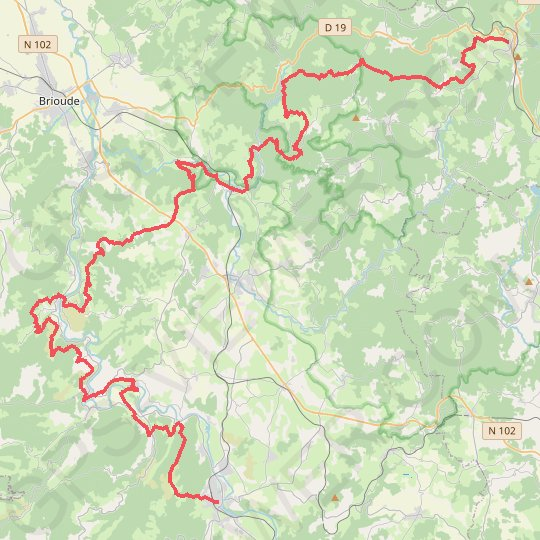d109fc656c7 Trace GPS Tour de Robe de Bure et Cotte de Mailles. De Langeac à La ...